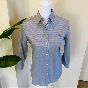 Ralph Lauren No iron blk/white fitted shirt SM